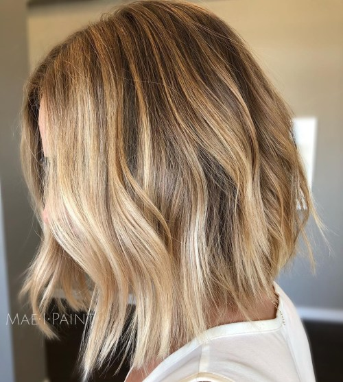 Choppy Wavy Honey Bronde Bob