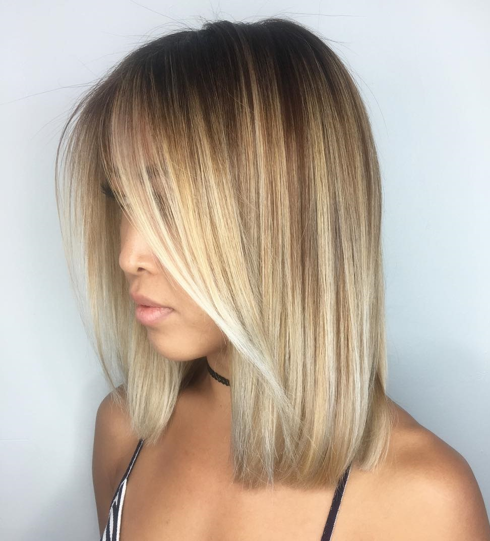 how to cut a long bob with layers