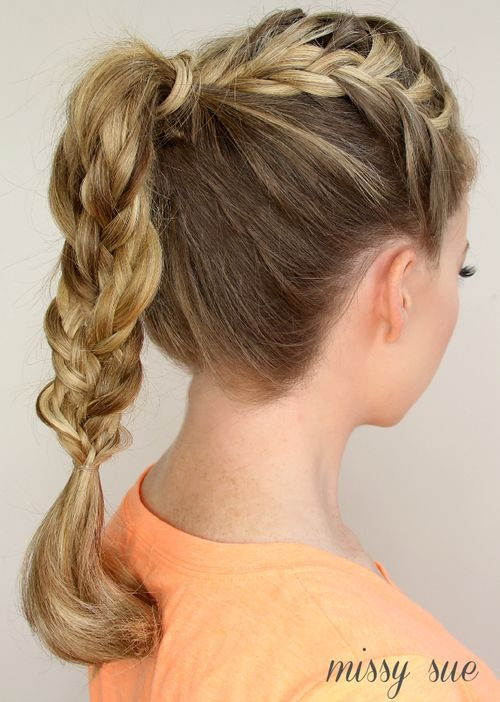 double braided pony