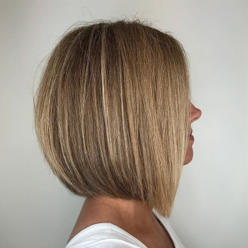 Straight Rounded Dark Blonde Bob