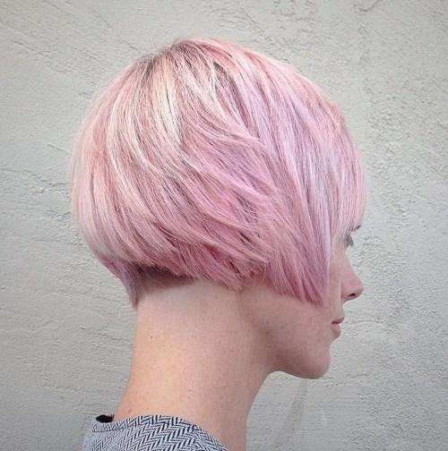 Pastel Pink Choppy Pixie
