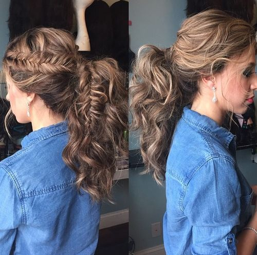 Awesome Braided Ponytail Hairstyles 40 Cute Ponytails With Braids Short Hairstyles For Black Women Fulllsitofus