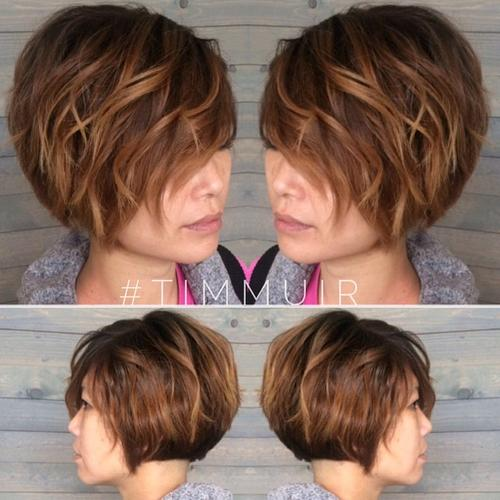 Magnificent 40 Short Bob Hairstyles Layered Stacked Wavy And Angled Bob Cuts Hairstyles For Women Draintrainus