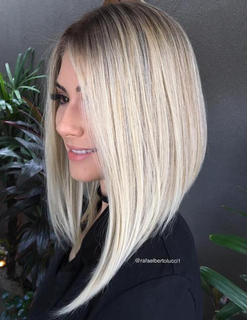 Asymmetrical Long Angled Bob