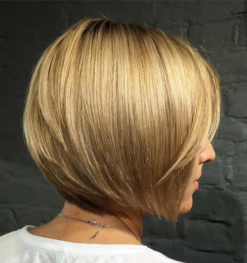 Short Straight Bob Hairstyle