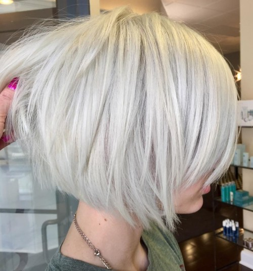 Short White Blonde Bob Hairstyle