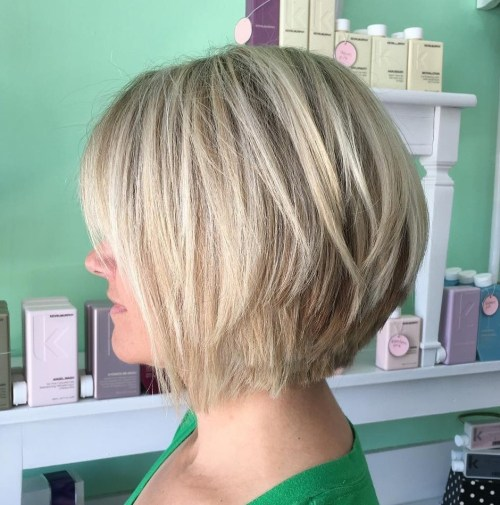 Ash Blonde Bob With Choppy Layers