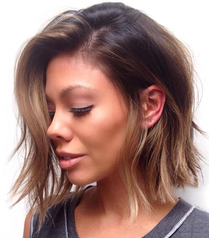 Brown Ombre Choppy Bob