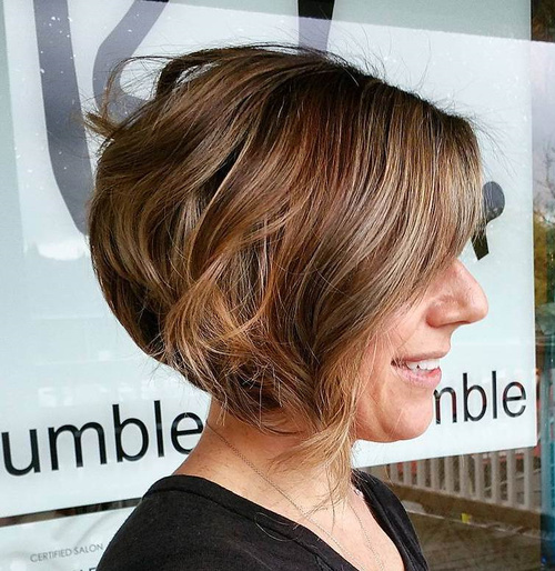 Enjoyable 40 Short Bob Hairstyles Layered Stacked Wavy And Angled Bob Cuts Hairstyles For Women Draintrainus