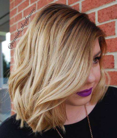 long side parted bob hairstyle