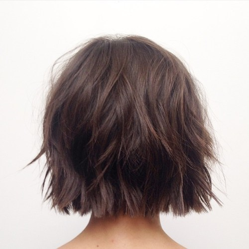 Short Choppy Brown Bob For Fine Hair