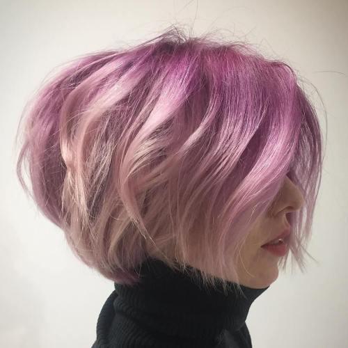 Shaggy Pastel Pink Bob