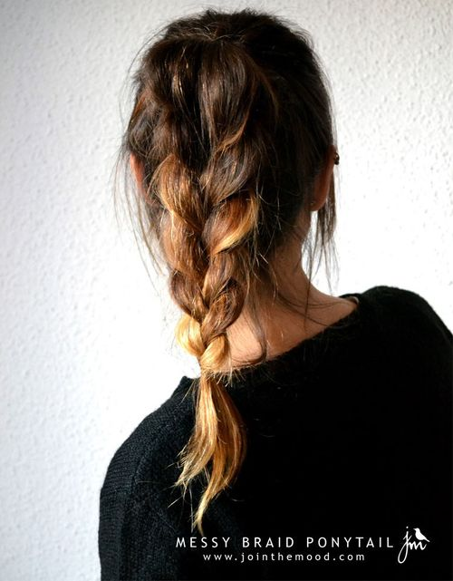 messy braided pony