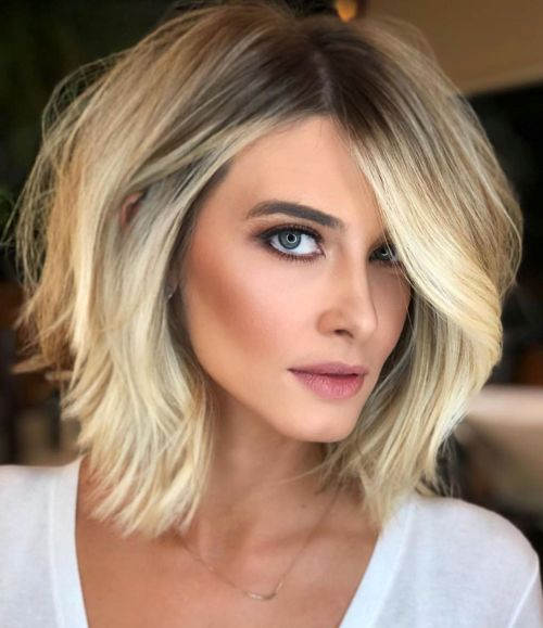 Lob Haircut With Textured Layers