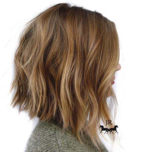 Choppy Caramel Bob