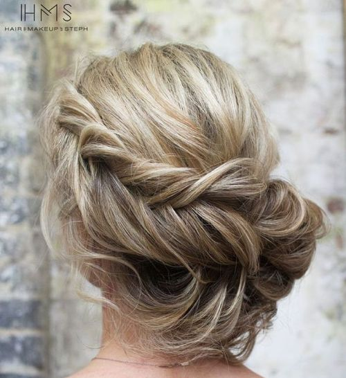 Loose Low Braided Updo