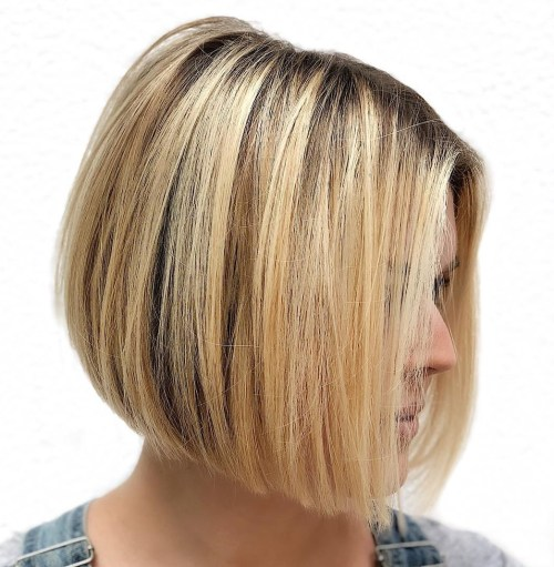 Chin-Length Straight A-Line Bob