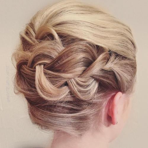French Roll With A Braid
