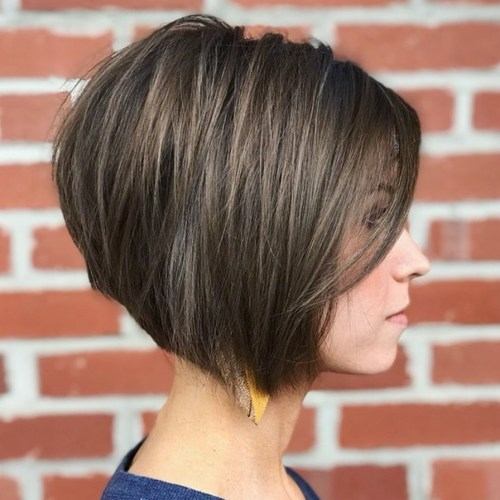 Inverted Brown Bob With Babylights
