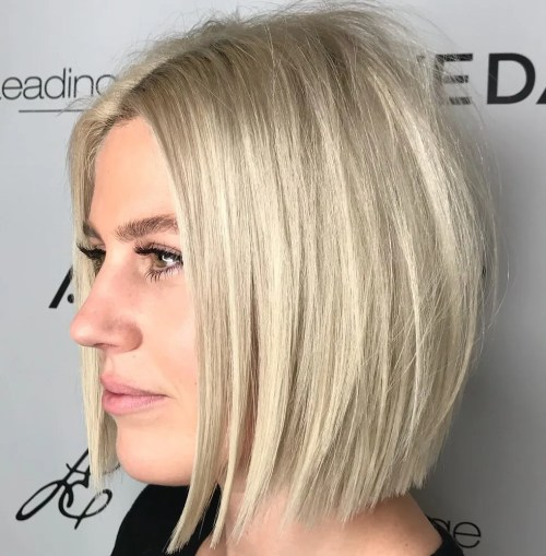 Tousled Blonde Bob For Straight Hair
