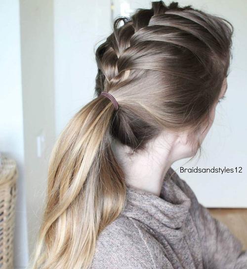 Tremendous 30 Fantastic French Braid Ponytails Short Hairstyles Gunalazisus