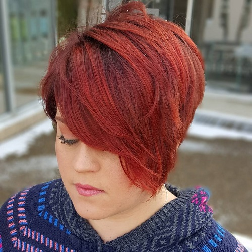 Blonde red brown ombre ed and highlighted pixie cuts for any taste short asymmetrical haircut solutioingenieria Gallery