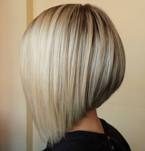 Angled Bob For Medium Length Hair