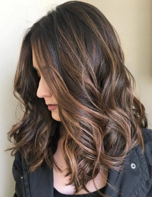 Brown Hair With Chocolate Highlights