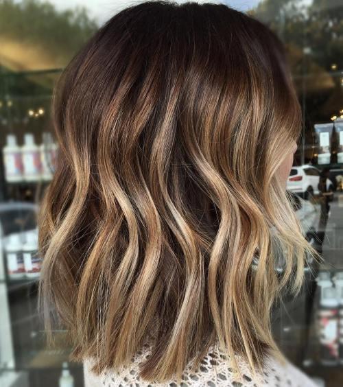 90 balayage hair color ideas with blonde brown and caramel highlights bronde balayage lob pmusecretfo Choice Image
