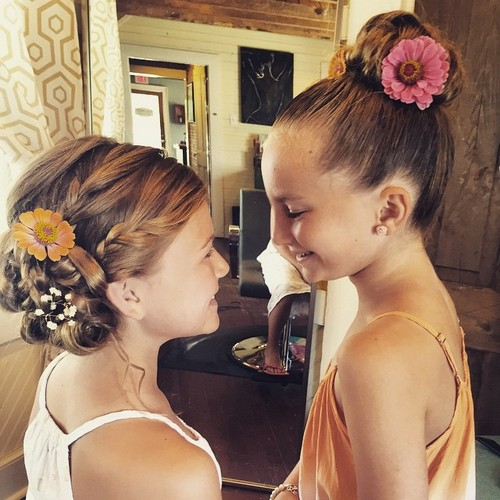 bun hairstyles for flower girls