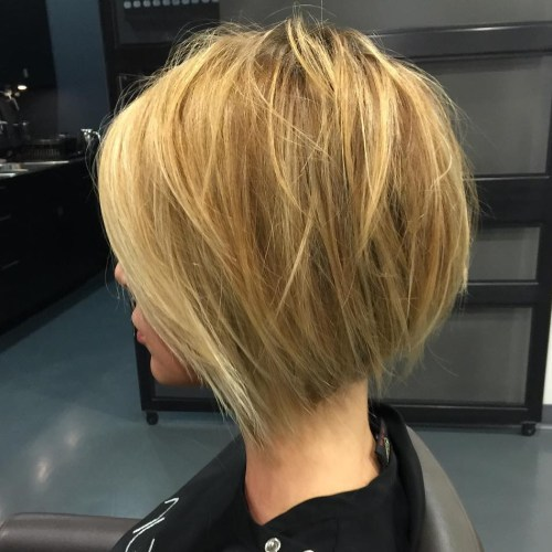 Wispy Short Inverted Bob