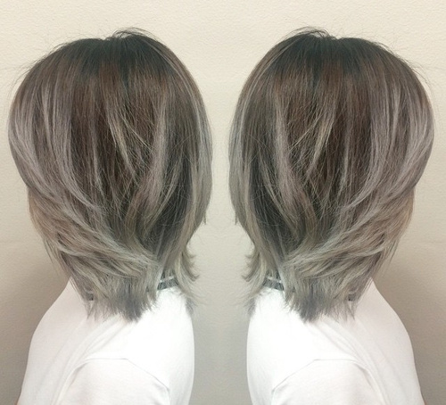 gray ombre highlights for brown hair
