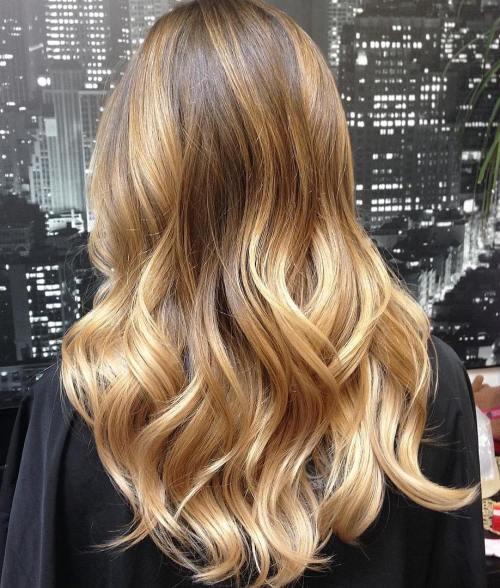 Golden Blonde Balayage Hair