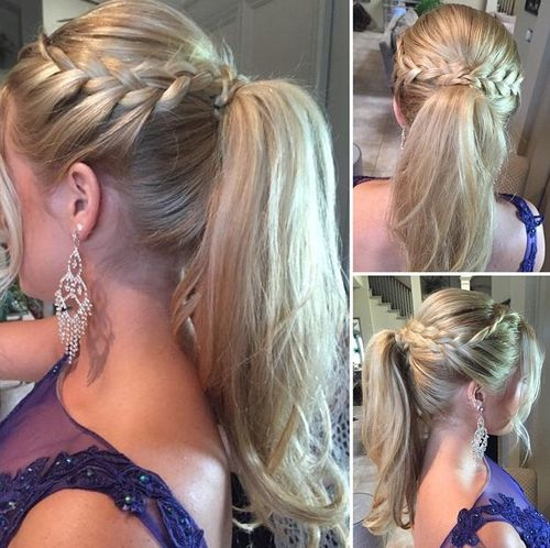Groovy 30 Fantastic French Braid Ponytails Short Hairstyles Gunalazisus