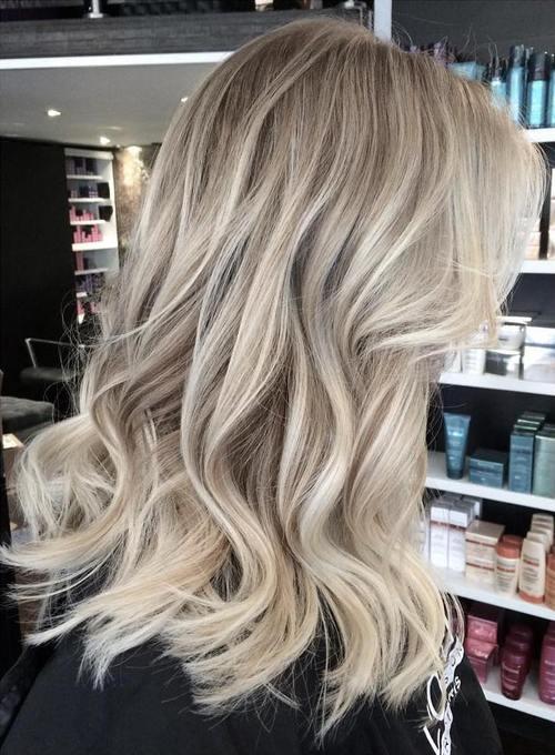 Balayage blonde haircuts