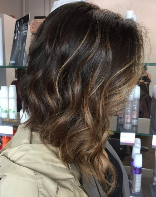 90 balayage hair color ideas with blonde brown and caramel highlights brown bob with subtle face framing balayage pmusecretfo Image collections
