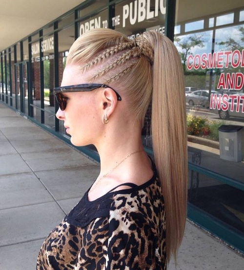 Pompadour Ponytail For Straight Hair