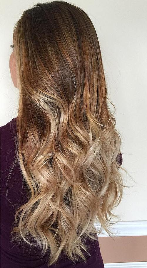 40 beautiful blonde balayage looks - Ombre braun blond ...