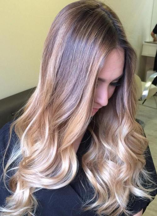 Honey Blonde Ombre Highlights For Brown Hair