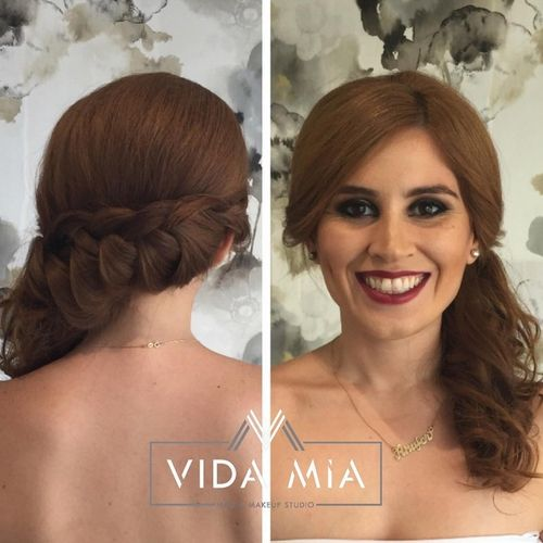formal side braid hairstyle