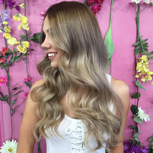 silver balayage for light brown hair