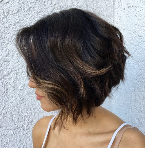 Shaggy Inverted Bob With Layers
