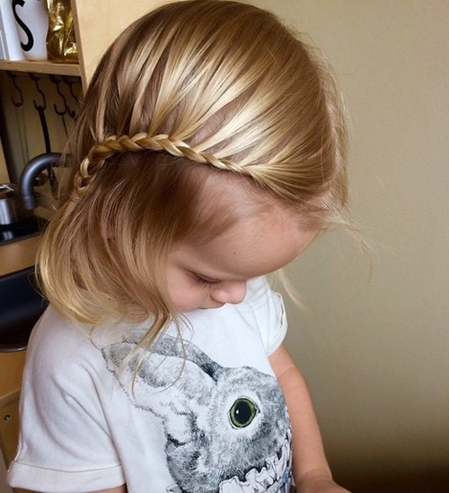 hair style for toddler girl 20 sweet baby hairstyles 5631 | 2 side swept bangs with french braid