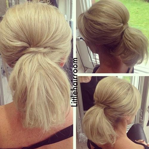 high ponytail for shorter hair