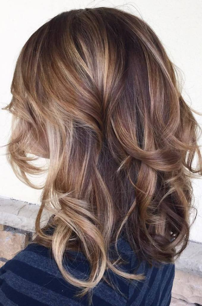 Balayage highlights on medium brown hair hairsstyles 90 balayage hair color ideas with blonde brown and caramel highlights pmusecretfo Image collections