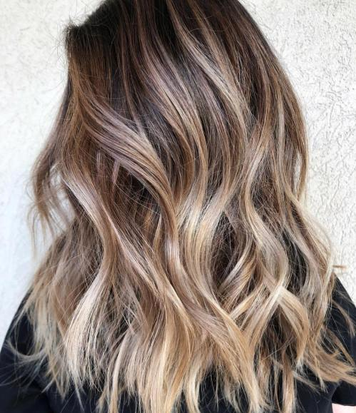 Brown Hair With Bronde Balayage Highlights