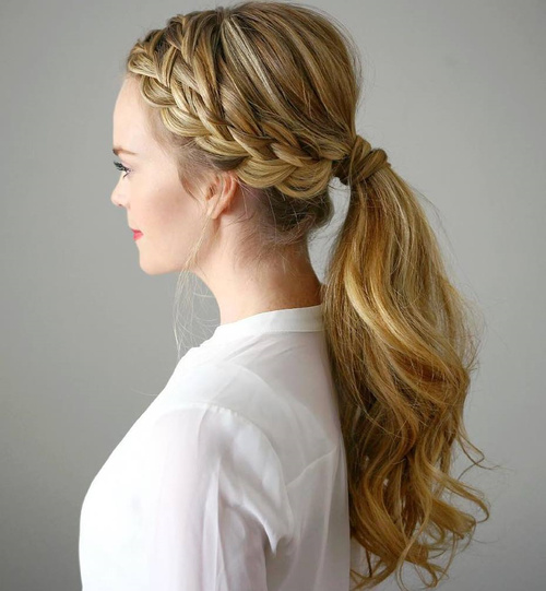 Fabulous 30 Fantastic French Braid Ponytails Short Hairstyles Gunalazisus
