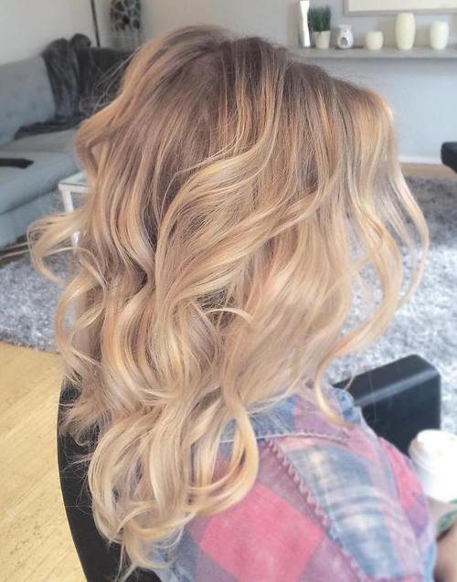blonde balayage for medium blonde hair