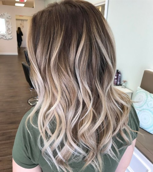 Platinum Blonde Balayage For Brown Hair