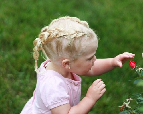 two braids hairstyle for baby girls